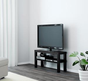Ikea Lack Banc Tv Noir Meuble Tv Pour Plasma Lcd Tv Del Ebay