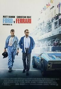details about ford v ferrari regular original movie poster double sided 27x40