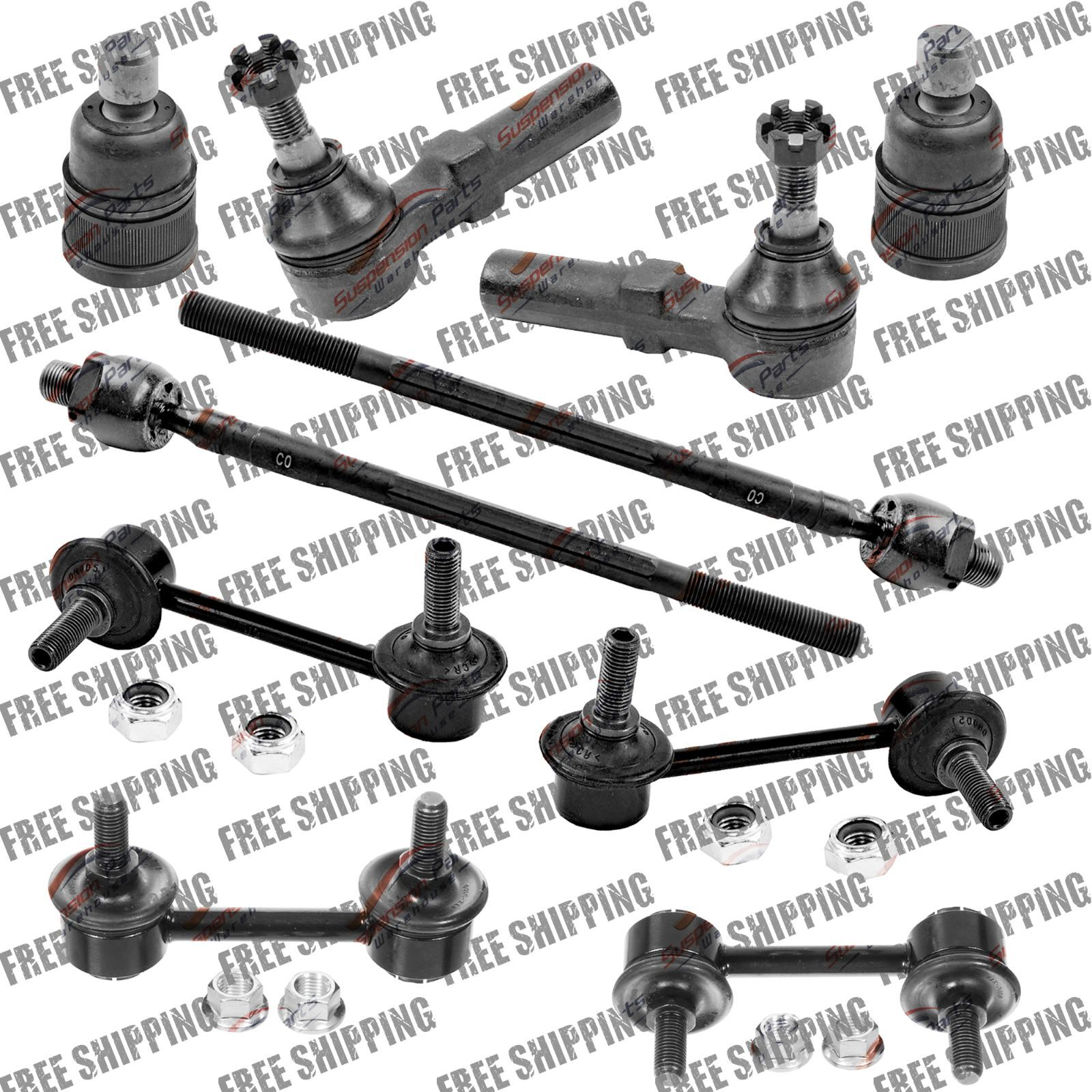 Front Steering Rebuild Kit Tie Rod End Ball Joint Sway Bar