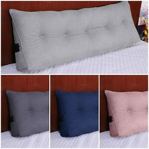 details about cotton soft wedge lumbar pillow back rest support headboard cushion bed reading