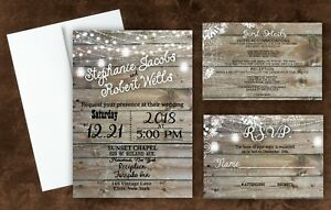 Details About Country Invites Custom Personalized Wedding Invitations Rustic Qty 100