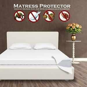Image Is Loading Waterproof Mattress Protector Encat Zippered Anti Bed Bug