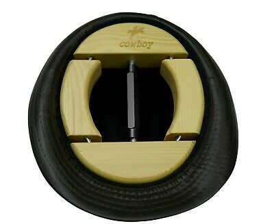 Cowboy 4 Way Wooden Hat Stretcher For Adults One Size From 7 1 2 To 9 1 2 Black Ebay