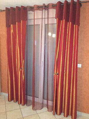 3 paires doubles rideaux taffetas doubles heytens ebay