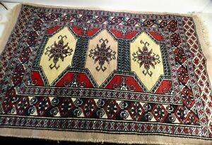 details sur ancien tapis d orient fait main afghan ou pakistan 90 cm x 60 cm