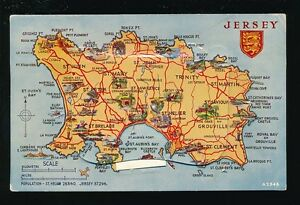 Channel Islands Jersey Map Mailing Pocket Novelty c1950 60s  PPC   eBay Image is loading Channel Islands Jersey Map Mailing Pocket Novelty c1950