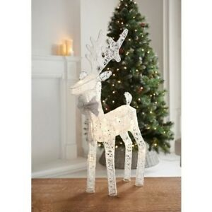 Image Is Loading Christmas Indoor Decor Light Up Reindeer 20 Led