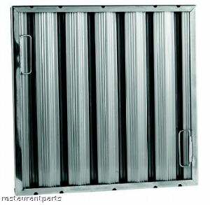 details about exhaust hood grease filter baffle 16x16 stainless 31266