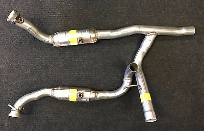 2006 2008 ford f150 5 4l eng 4wd front exhaust y pipe catalytic converters ebay