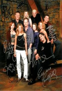 details about buffy the vampire slayer poster cast multi signed autograph print 6x4 gift