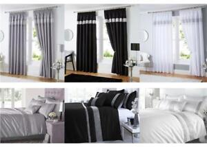 details about silver grey black white diamante duvet sets curtains throws order separately