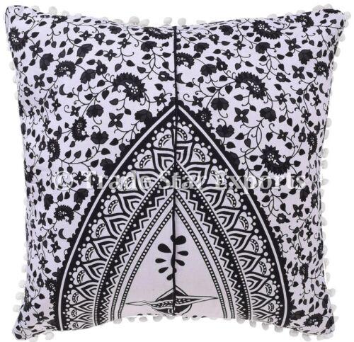 large mandala cotton cushion cover 22x22 boho decorative throw pillow case 2 pcs home garden selfiestar home decor