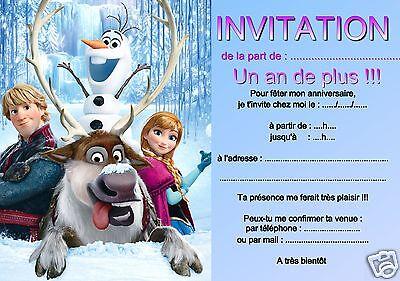 5 ou 12 cartes invitation anniversaire reine des neiges ref 312 ebay