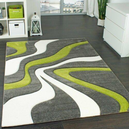 moderne tapis gris et vert contour coupe abstract pattern tapis chambre a coucher lounge tapis maison tapis alfa bau gmbh de