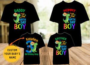 Dinosaur Family Birthday Dino Party Shirt Mom Dad Kid Brother Sister Baby 6m 24m Ebay