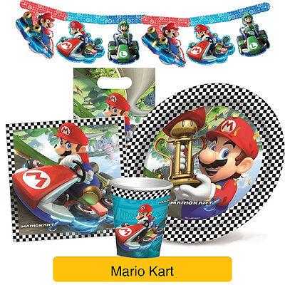 Super Mario Kart Birthday Party Range Tableware Balloons Decorations Ebay