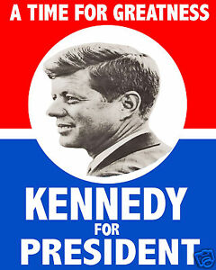 details about john f kennedy jfk campaign poster reprint 1960 8 x 10 photo photograph picture