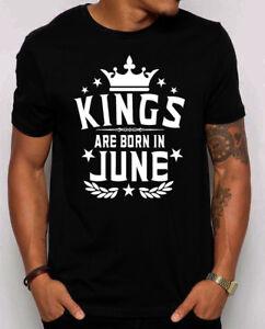 Kings Are Born In June Men S T Shirt Gift For Him Best Birthday Shirt S 4xl Ebay