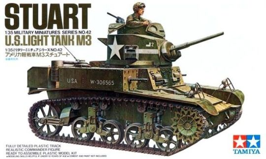 Tamiya Military Model 1 35 Stuart MKI US Light Tank M3 Scale Hobby     Tamiya 35042 1 35 Scale Military Model Kit U S  M3 General Stuart Light Tank