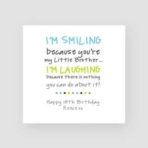 Personalised Handmade Funny Birthday Card For Him Little Brother Big Brother Ebay