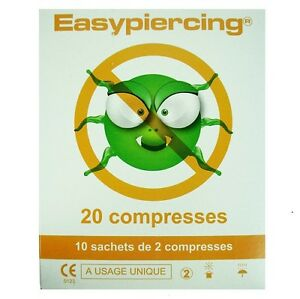 New Easypiercing® Hygienic Sterile Cleansing Aftercare Tattoo Piercing Swabs x20