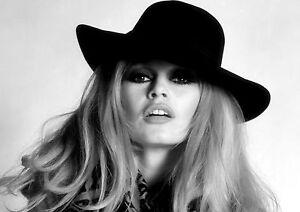 details zu brigitte bardot model hat pose black and white beautiful bb print photo poster