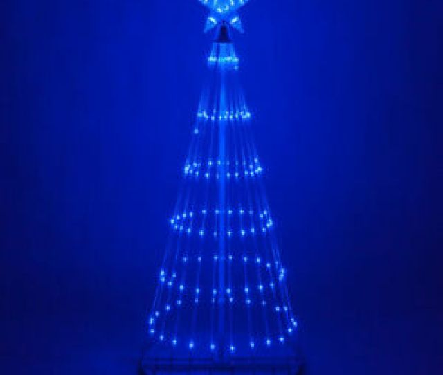Image Is Loading Led Outdoor Christmas Light Show Motion Tree Blue