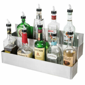 details about speed rack double holds 12 bottles stainless steel bar storage racks