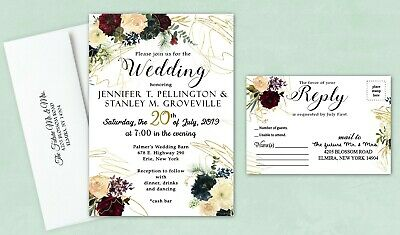 Personalized Wedding Invitations Gold
