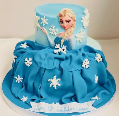 Edible Elsa Large 6 Cake Topper Image Frozen Decoration Wafer Card Sheet Ebay