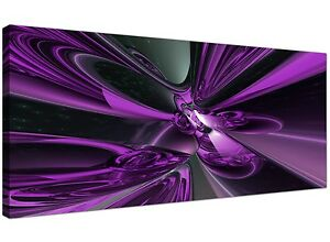 Purple Cheap Canvas Of Large Abstract Wall Art 120cm X 50cm 1018 5060327328473 Ebay
