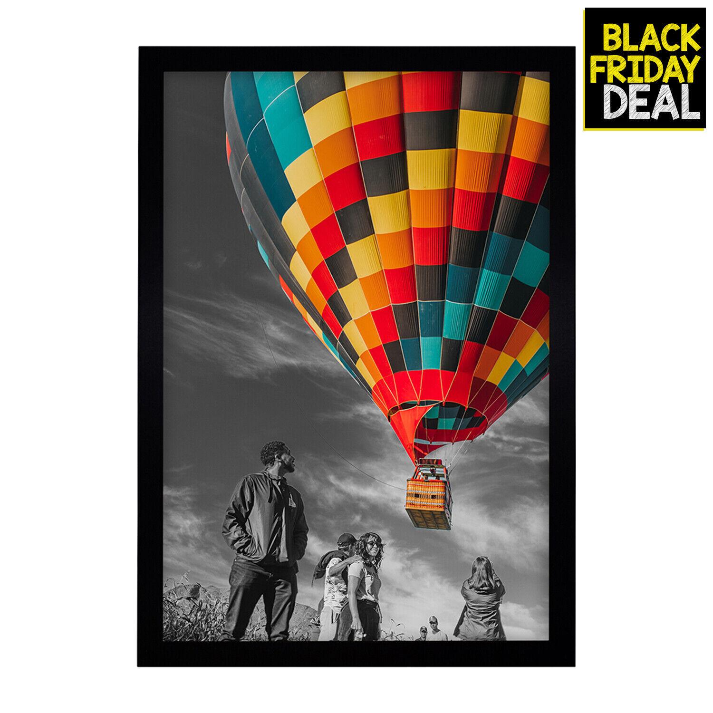 golden state art 13x19 inch poster frame black landscape portrait swivel