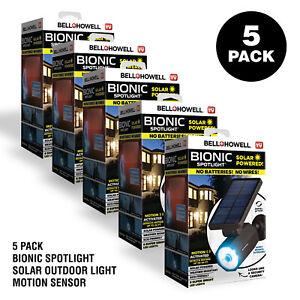 Bell + Howell Bionic Spotlight Solar Outdoor Light Motion Sensor - 5 Pack