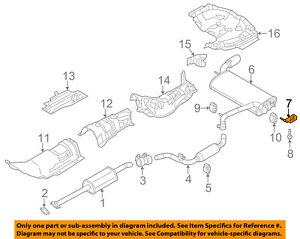 details about ford oem 12 18 focus 2 0l l4 exhaust rear muffler bracket left cv6z5k291c