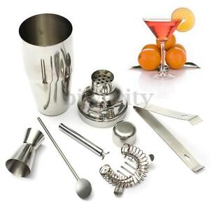 5Pcs/Set Cocktail Shaker Mixer Drink Stainless Steel Bartender DIY Tools Kit
