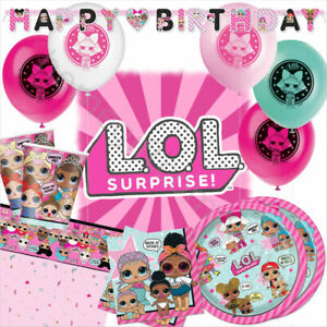 Lol Surprise Girls Birthday Party Supplies Decorations Tableware Balloons L O L Ebay