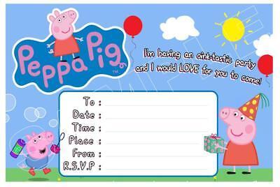 1 x peppa pig childrens blank fill in diy birthday invitations free magnets ebay