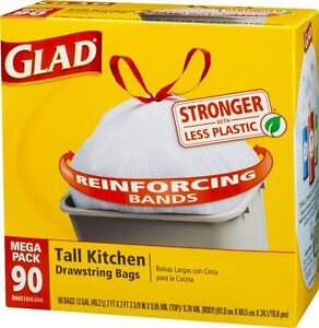 Image Result For Glad Tall Kitchen Drawstring Trash Bags  Count