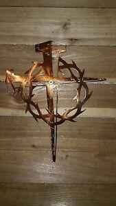 Crown Of Thorns Cross 18 WALL ART CNC PLASMA Metal DECOR EBay
