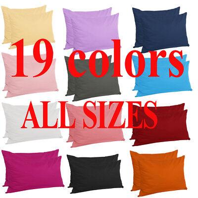 zippered pillow cases pillowcases standard queen king egyptian cotton 4 pack ebay