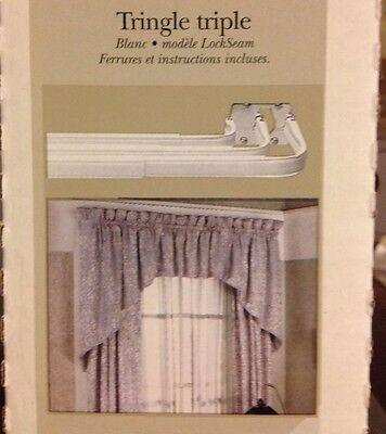 triple lockseam curtain rod set 48 84 adjustable heavy duty 4 273 1 ebay