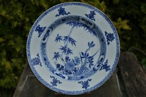 Fine Antique Chinese 18thC Hand-painted Blue and White Plate