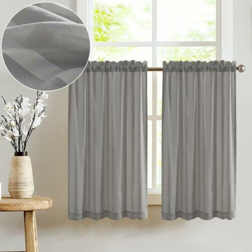 home garden tier curtains striped sheer for kitchen window curtain rod pocket 2 panels other kitchen linen textiles