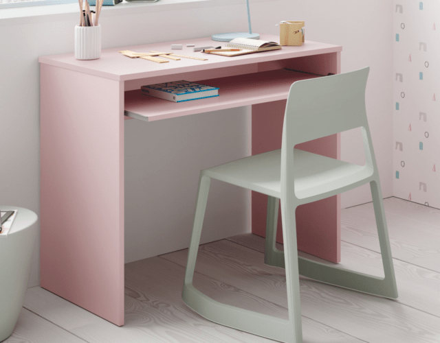 Leo Computer Study Desk Kids Children Bedroom Furniture In Soft Pink Melamine For Sale Online Ebay