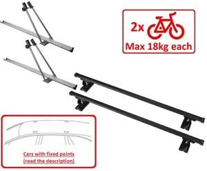 details about set roof rack bike racks for 2 bikes m015 130 bmw 1 series e82 coupe 07 11