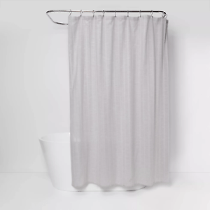 details about nwot threshold tonal striped shower curtain gray 72 x 72