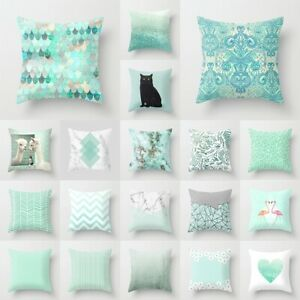 details about new mint green blue cushion covers modern nordic geometric throw pillows decor