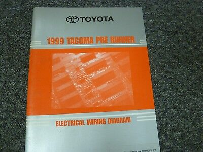 1999 toyota tacoma prerunner truck electrical wiring diagram manual limited   ebay
