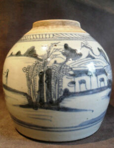 CHINESE ANTIQUE 18TH CENTURY GINGER JAR QIANLONG PERIOD QING DYNASTY OLD