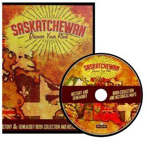 Saskatchewan Genealogy & History { Vintage Book & Map Library} ~ DVD Gift Set